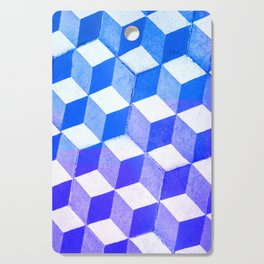 Blue Antic Tile Pattern Cutting Board