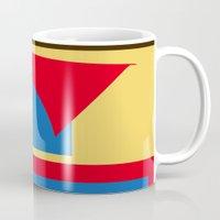 superhero Mugs featuring Superhero Abstract by StevenARTify
