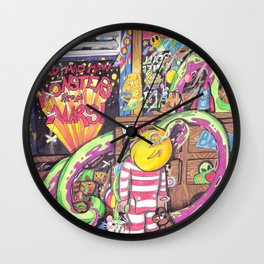 Mad Mad Mad Moon Monsters from Mars! Wall Clock