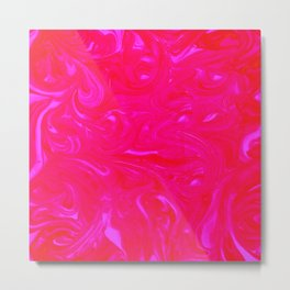 In Love with Pink Swirls Metal Print