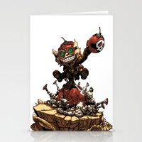 league of legends Stationery Cards featuring League of Legends Ziggs by Joel Cumpson