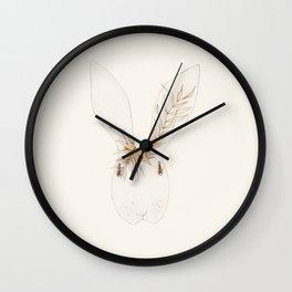 Miss Bunny Golden Brown Wall Clock