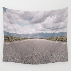 On the Road, Mountains, Wanderlust Wall Tapestry