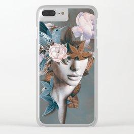 Floral Portrait 11 Clear iPhone Case