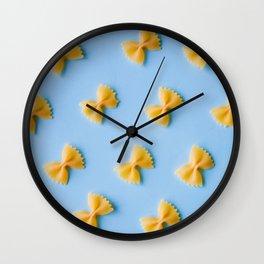 Bowtie Pasta Noodles (Color) Wall Clock