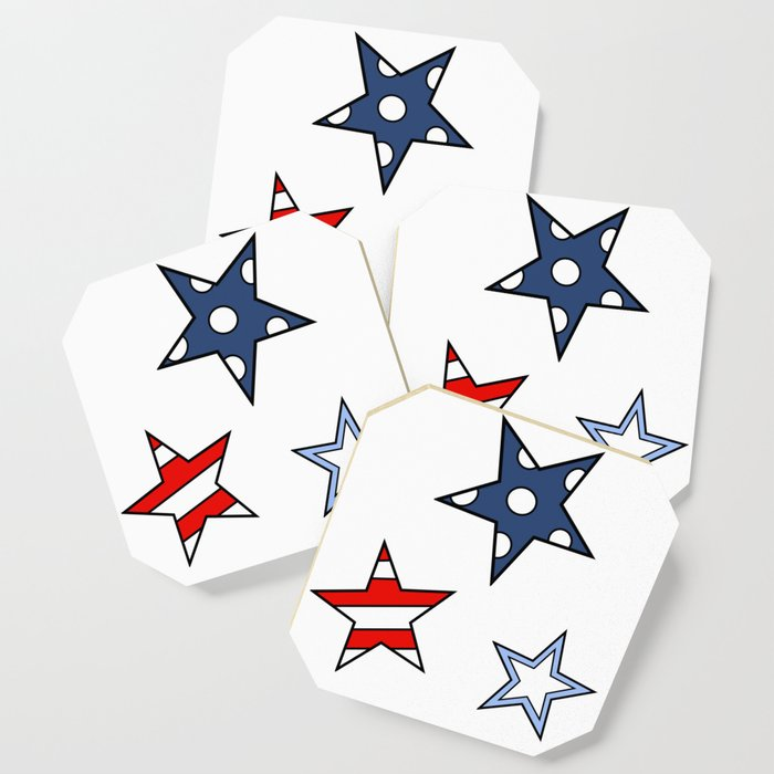 HAPPY STARS by Silvana Arias Coaster