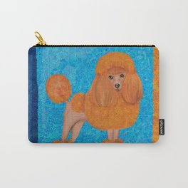 Fun whimsical Orange Toy Poodle Carry-All Pouch