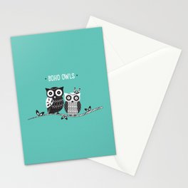 Boho Owls Stationery Cards