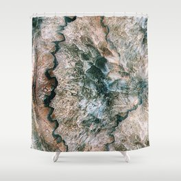 Agate Abstract Shower Curtain