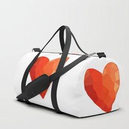 A Single Red Heart Duffle Bag