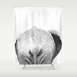 Black and white elephant animal jungle Shower Curtain