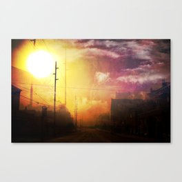 The West End Of Town Canvas Print