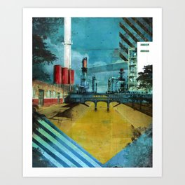 LA River Blues Art Print