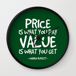 Price and Value Quote - Warren Buffett Wall Clock