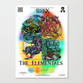Mysticx & Magick: The Japanese Elemental Gods - Art Cover Canvas Print