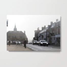 Out of Focus British Town Metal Print
