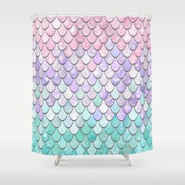 Cute Pretty Fun Girly Pattern, Ombre Pastel Pink, Purple, Teal Shower Curtain