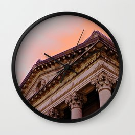 Courthouse Morning Wall Clock