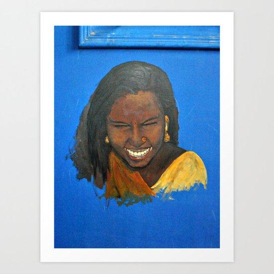 Indian Tribal Beauty Art Print