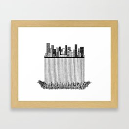 City with roots Framed Art Print
