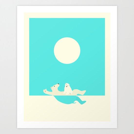 SWIMMING LESSONS Art Print