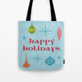 Mid Century Happy Holidays Tote Bag
