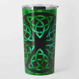Celtic Knot Star Flower Travel Mug