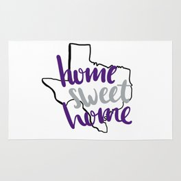 Home Sweet Home TCU Rug