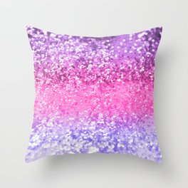 Unicorn Girls Glitter #6 #shiny #decor #art #society6 Throw Pillow