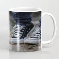 converse Mugs featuring Converse by AJ Calhoun