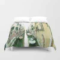 italy Duvet Covers featuring italy by Harriet Hendricks