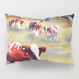 Cows in Pasture Pillow Sham