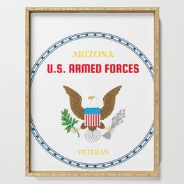 Arizona U.S. Armed Forces Veteran Serving Tray