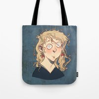luna lovegood Tote Bags featuring Luna Lovegood by Naïs Quin
