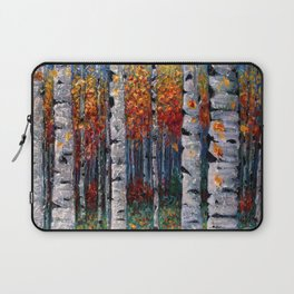 Aspen Fall by OLena Art  Laptop Sleeve