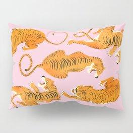 Three fierce tigers Pillow Sham