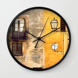 Yellow and Old Wall Wall Clock