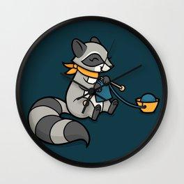 Knitty Raccoon Wall Clock