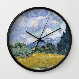 Vincent van Gogh - Wheat Field with Cypresses Wall Clock