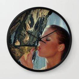 Peak H2O Peak Water  - Vintage Collage Wall Clock