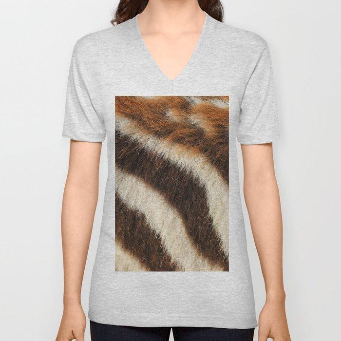Zebra Fur Unisex V-Neck