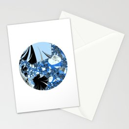 Fractal On Point Stationery Cards