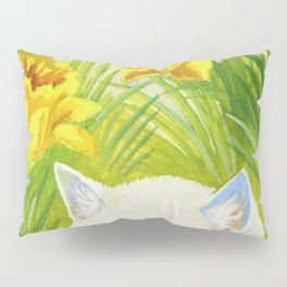 Louis Wain - Cat And Daffodils - Digital Remastered Edition Pillow Sham