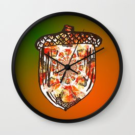 Going Nuts for Fall Wall Clock