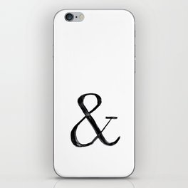 Ampersand watercolor iPhone Skin