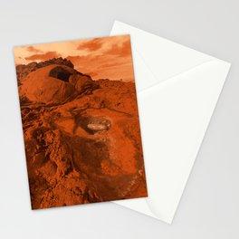 Mars landscape Stationery Cards