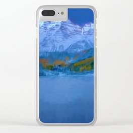 Maroon Bells Early Morning Abstract Clear iPhone Case