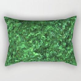 Abalone Shell | Paua Shell | Green Tint Rectangular Pillow