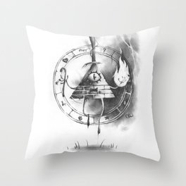 The Cipher Demon Throw Pillow