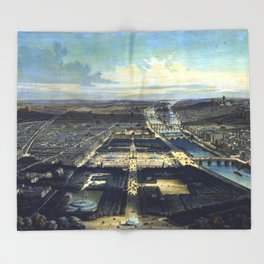 Vue générale de Paris Throw Blanket